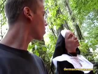 Naughty Nun Fucks On Street