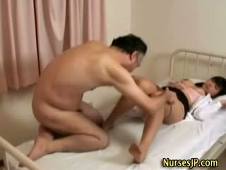 Horny asian woman doctor