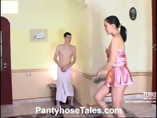 Laura และ jerome pantyhosing onto วีดีโอ