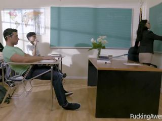 Teacher Vicki Chase Fucks With One of Her Student