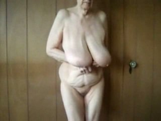 80 year old granny with big saggy tits