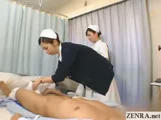 Ιαπωνικό νοσοκόμα practices αυτήν μαλακία τεχνική