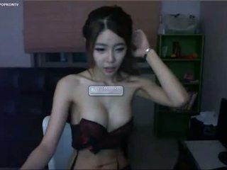 webcam, magro, coreano