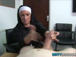 Reāls brit mūķene punishing grūti dzimumloceklis