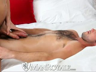 ManRoyale Cute guy gets a dick massage