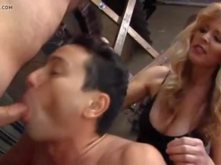 Blonde Mistress and Two Bisexual Slaves, Porn b1
