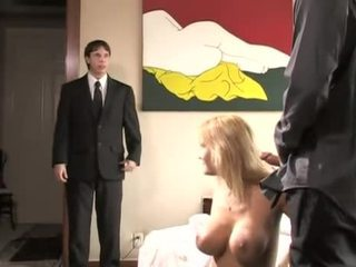 Trina Michaels fucked by step son and his friend