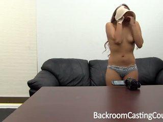 Hogeschool cutie eerste anaal & ambush creampie casting