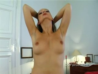 Babe Sandra Shine Stripping And Teasing In Her Room