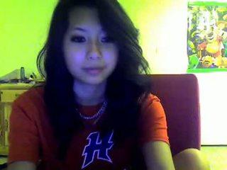 Asiatisk tenåring flashes meg på omegle