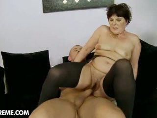 granny, hairy, stockings