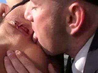 Geil lucht hostess prefers hard anaal penetration