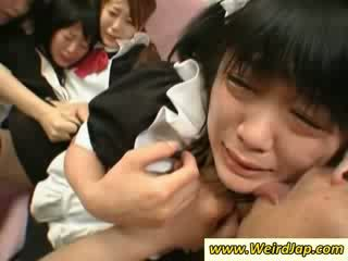 Hot asia maids gets fucked on the kursi