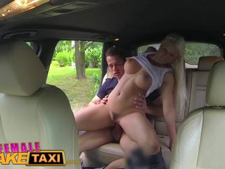 Female Fake Taxi Busty Blonde Rides Studs Cock: HD Porn f4