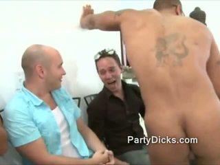 Groep van men wild voor stripper dicks