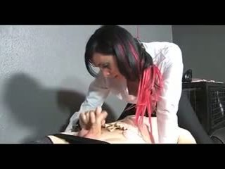 Tied guy gets fucked with strapon
