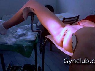 滿 gyno 考試 gerl 上 gyno 椅子, 免費 色情 29