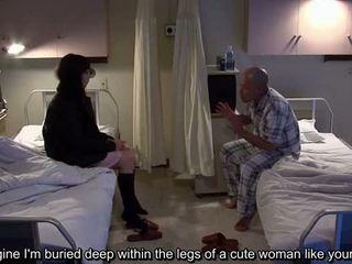 Subtitled uncensored e çuditëshme spital japoneze stimulim me dorë