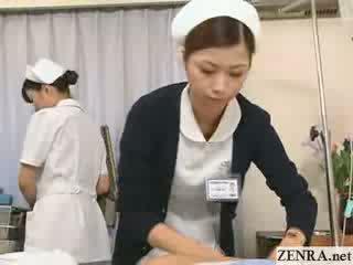 Jap medmāsa practices viņai roka darbs tehnika