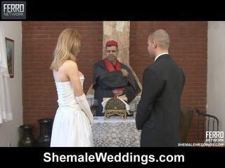 Mescolare di carla, tony, alessandra da shemale weddings