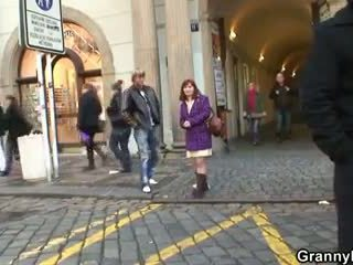 Young guy bangs granny tourist