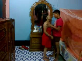 Honeymoon indický pair v jejich ložnice