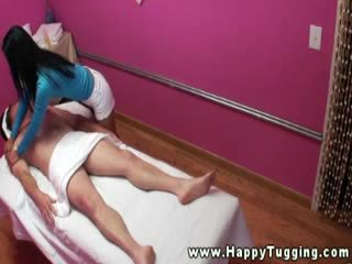 Asian masseuse is giving a good suck