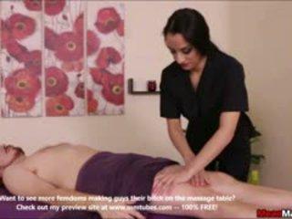 brunette, erotic, massage