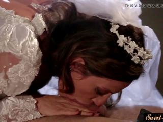 Rondborstig milf screwed in haar huwelijk jurk, porno 2f