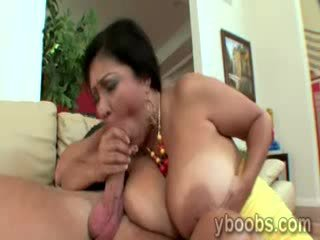 Cock starving MILF with massive boobs Jaylene Rio devours huge dong