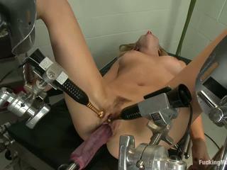 blondīnes, seksa rotaļlieta, masturbācija