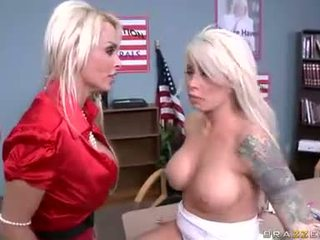 Holly Halston gets too hot ot handle with her friend Brooke for some action