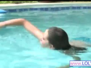Brooke in the swimming pool