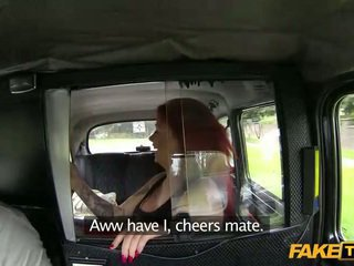 เซ็กส์แปลกๆ หัวแดง น้ำแตก jizzed ใน a taxi