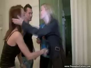 reality, group sex, redhead