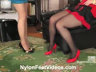 Ninon And Agatha Nasty Stockings Feet Film Action