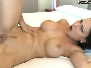 Busty bruneta abbie cat swallowing jizz