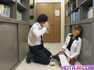 Misaki Inaba kissed on nylon