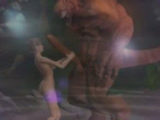 Hentai seks 3d fantasy dengan demons 2