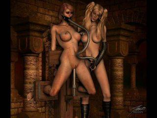 Vintage erotisch bondage artwork
