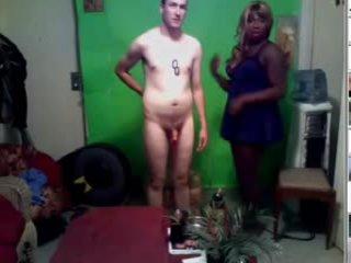 Zwart tranny en haar blank lover