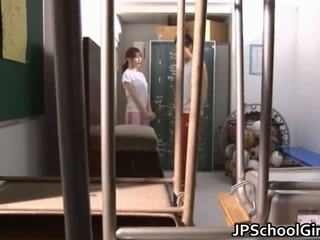 ร้อน ญี่ปุ่น เด็กนักเรียนหญิง เพศ วีดีโอ