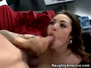 Adrenalynn Receives Her Pussy Fucked On A Maroon Sheet Ottoman