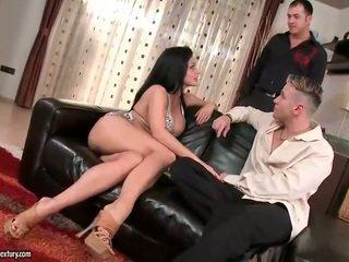 Aletta Ocean enjoys sex with two guys