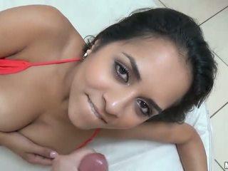 Busty gf Abbey Lee Brazil fucked on tape