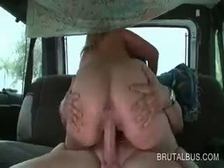 Hardcore Cock Riding On The Sex Bus Back Seat