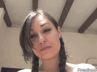 Sasha grey goes deep and swallows