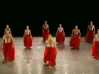 Naken dansing ballett gruppe