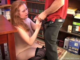 Spicy Old Spunker Loves to Suck and Fuck a Lucky Chap
