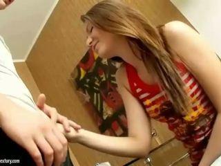 Teen cutie getting her tight ass rammed